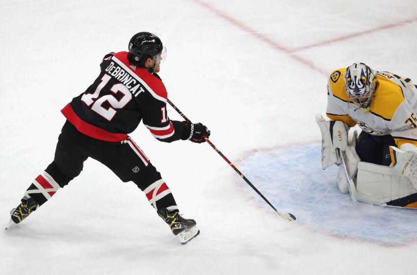 Alex DeBrincat #12, Chicago Blackhawks (Photo by Jonathan Daniel/Getty Images)