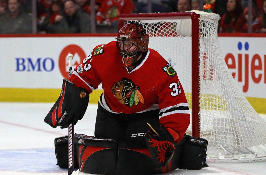 Chicago Blackhawks, Scott Darling #33 (Photo by Jonathan Daniel/Getty Images)