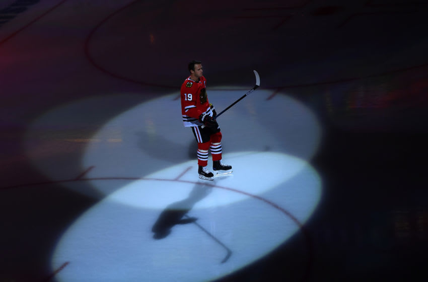 Jonathan Toews #19, Chicago Blackhawks (Photo by Stacy Revere/Getty Images)