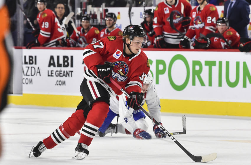 Tim Soderlund #37, Rockford IceHogs (Photo by Minas Panagiotakis/Getty Images)