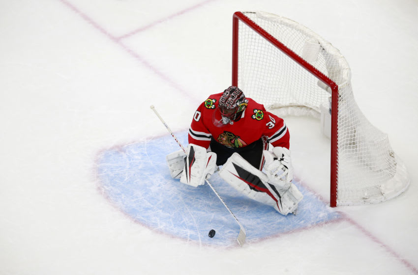 Malcolm Subban #30, Chicago Blackhawks (Photo by Jeff Vinnick/Getty Images)