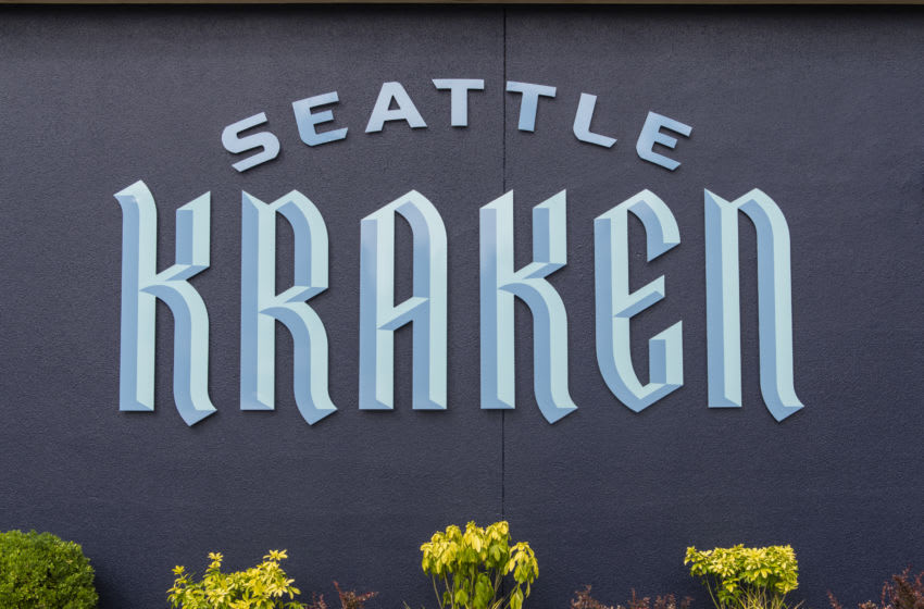 SEATTLE, WASHINGTON - AUGUST 21: The Team Store for the Seattle Kraken, the NHL's newest franchise, opens for business on August 21, 2020 in Seattle, Washington. (Photo by Jim Bennett/Getty Images)
