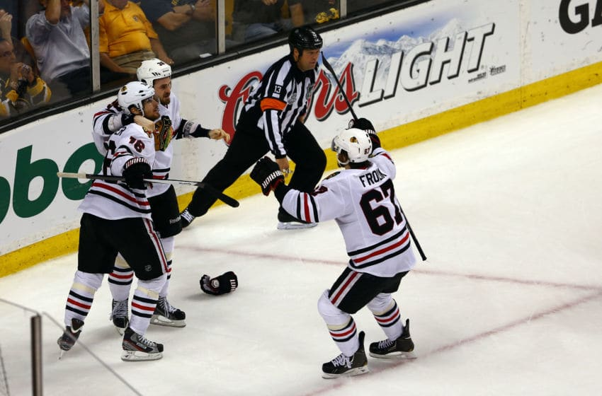 Dave Bolland #36, Chicago Blackhawks (Photo by Elsa/Getty Images)