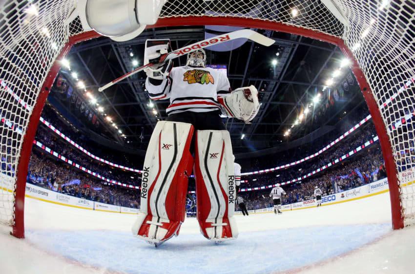 Corey Crawford, Chicago Blackhawks (Photo by Bruce Bennett/Getty Images)