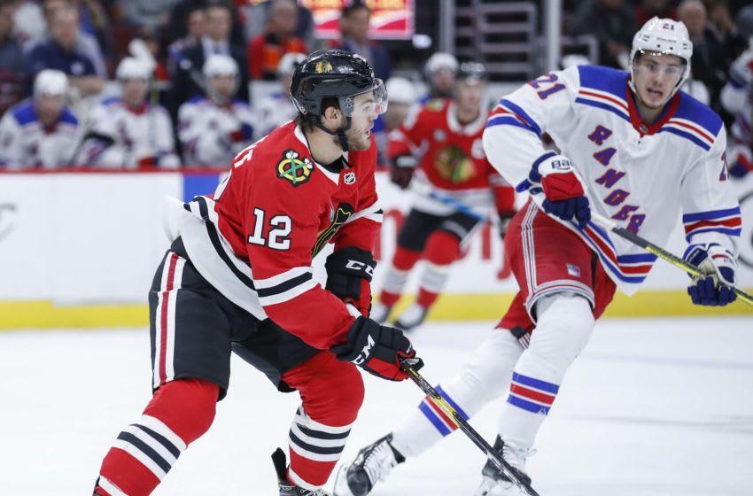 Alex DeBrincat #12, Chicago Blackhawks Mandatory Credit: Kamil Krzaczynski-USA TODAY Sports