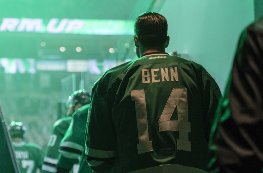 Dec 23, 2016; Dallas, TX, USA; Dallas Stars left wing Jamie Benn (14) takes the ice before the game against the Los Angeles Kings at the American Airlines Center. Mandatory Credit: Jerome Miron-USA TODAY Sports