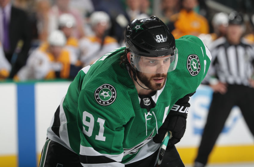 DALLAS, TX - APRIL 22: Tyler Seguin #91 of the Dallas Stars skates against the Nashville Predators in Game Six of the Western Conference First Round during the 2019 NHL Stanley Cup Playoffs at the American Airlines Center on April 22, 2019 in Dallas, Texas. (Photo by Glenn James/NHLI via Getty Images)