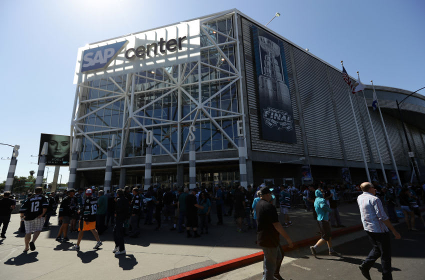 SAN JOSE, CA - JUNE 06: Fans walk around outside the arena prior in Game Four of the 2016 NHL Stanley Cup Final between the San Jose Sharks and the Pittsburgh Penguins at SAP Center on June 6, 2016 in San Jose, California. (Photo by Ezra Shaw/Getty Images)