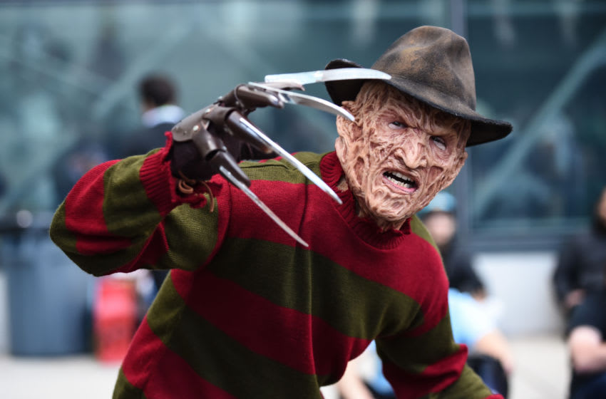 NEW YORK, NEW YORK - OCTOBER 04: A cosplayer poses as Freddy Krueger during New York Comic Con 2019 on October 04, 2019 in New York City. (Photo by Daniel Zuchnik/Getty Images)