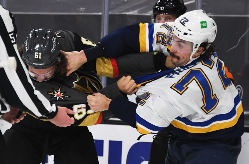 Justin Faulk #72 of the St. Louis Blues (Photo by Ethan Miller/Getty Images)