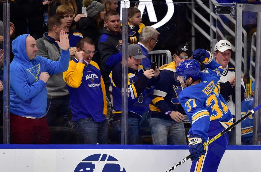 St. Louis Blues Klim Kostin (37) Mandatory Credit: Jeff Curry-USA TODAY Sports