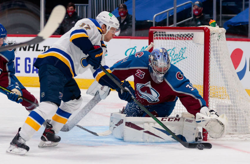 St. Louis Blues left wing Jaden Schwartz (17) Mandatory Credit: Isaiah J. Downing-USA TODAY Sports