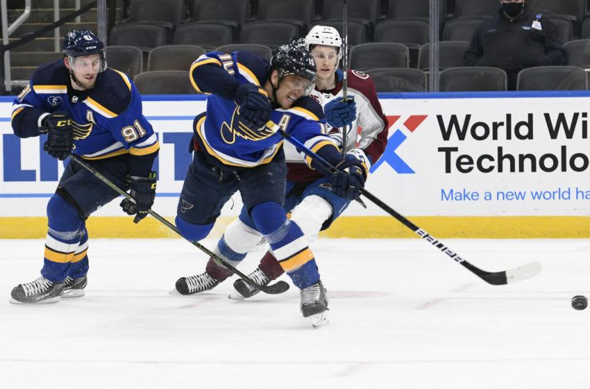 St. Louis Blues center Brayden Schenn (10) Mandatory Credit: Jeff Le-USA TODAY Sports