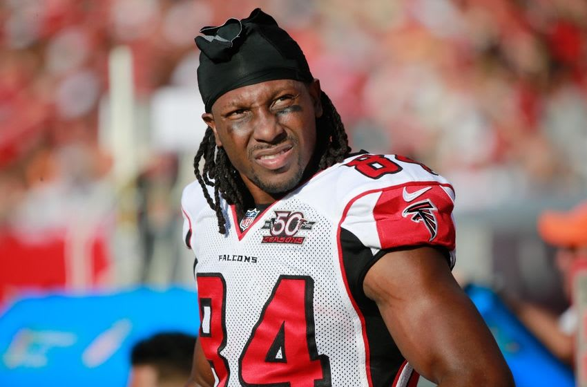 Dec 6, 2015; Tampa, FL, USA; Atlanta Falcons wide receiver Roddy White (84) during the second half at Raymond James Stadium. Tampa Bay Buccaneers defeated the Atlanta Falcons 23-19. Mandatory Credit: Kim Klement-USA TODAY Sports
