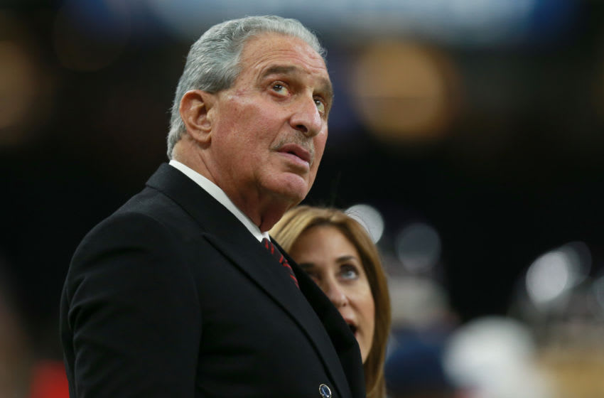 NEW ORLEANS, LOUISIANA - NOVEMBER 22: Arthur Blank owner of the Atlanta Falcons reacts during the second half against the New Orleans Saints at the Mercedes-Benz Superdome on November 22, 2018 in New Orleans, Louisiana. (Photo by Sean Gardner/Getty Images)