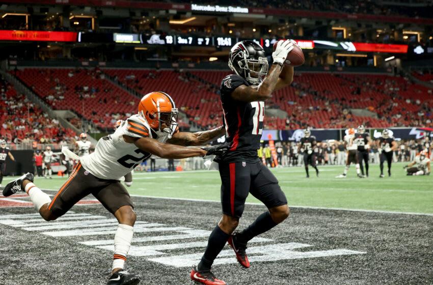 Atlanta Falcons wide receiver Juwan Green (19) Mandatory Credit: Jason Getz-USA TODAY Sports