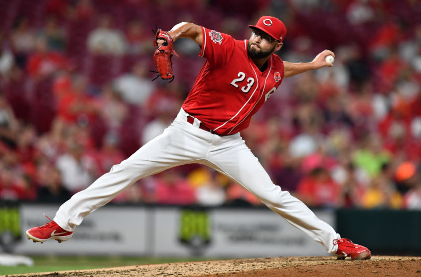 CINCINNATI, OH - MAY 27: Cody Reed #23 of the Cincinnati Reds pitches in the seventh inning against the Pittsburgh Pirates at Great American Ball Park on May 27, 2019 in Cincinnati, Ohio. Cincinnati defeated Pittsburgh 8-1. (Photo by Jamie Sabau/Getty Images)