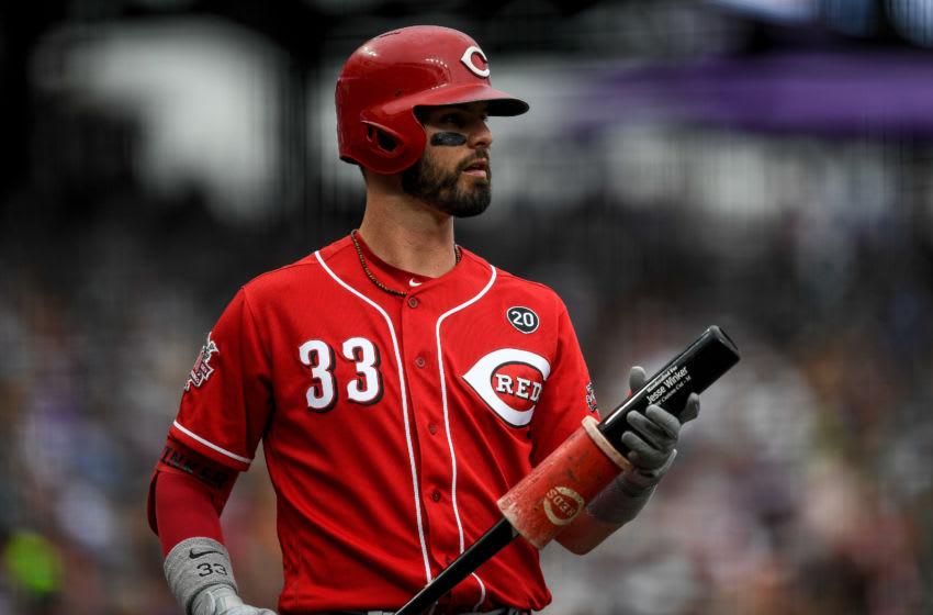 DENVER, CO - JULY 14: Jesse Winker #33 of the Cincinnati Reds (Photo by Dustin Bradford/Getty Images)