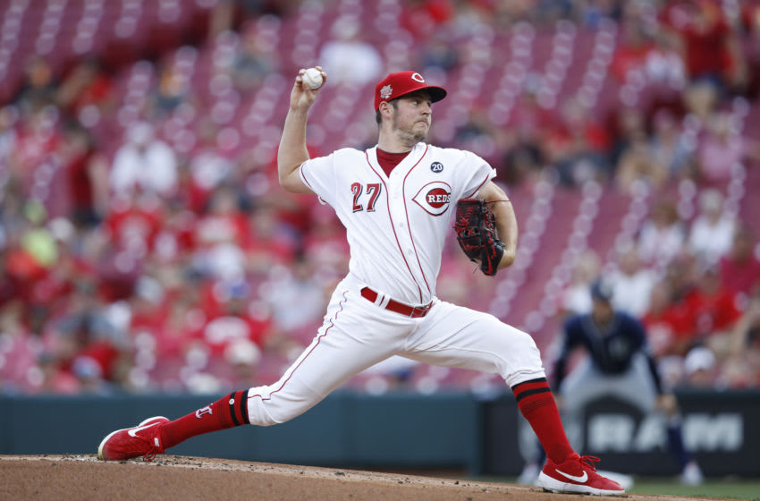CINCINNATI, OH - AUGUST 19: Trevor Bauer #27 of the Cincinnati Reds (Photo by Joe Robbins/Getty Images)