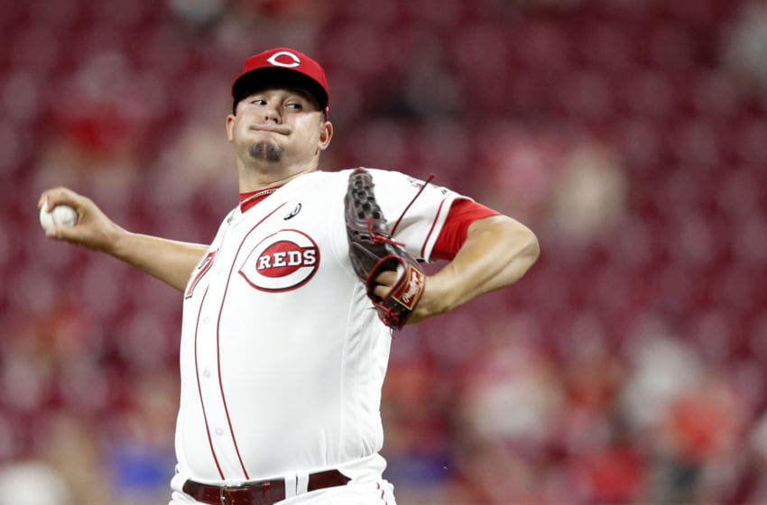 CINCINNATI, OH - SEPTEMBER 03: Sal Romano #47 of the Cincinnati Reds pitches in the sixth inning against the Philadelphia Phillies at Great American Ball Park on September 3, 2019 in Cincinnati, Ohio. The Phillies defeated the Reds 6-2. (Photo by Joe Robbins/Getty Images)