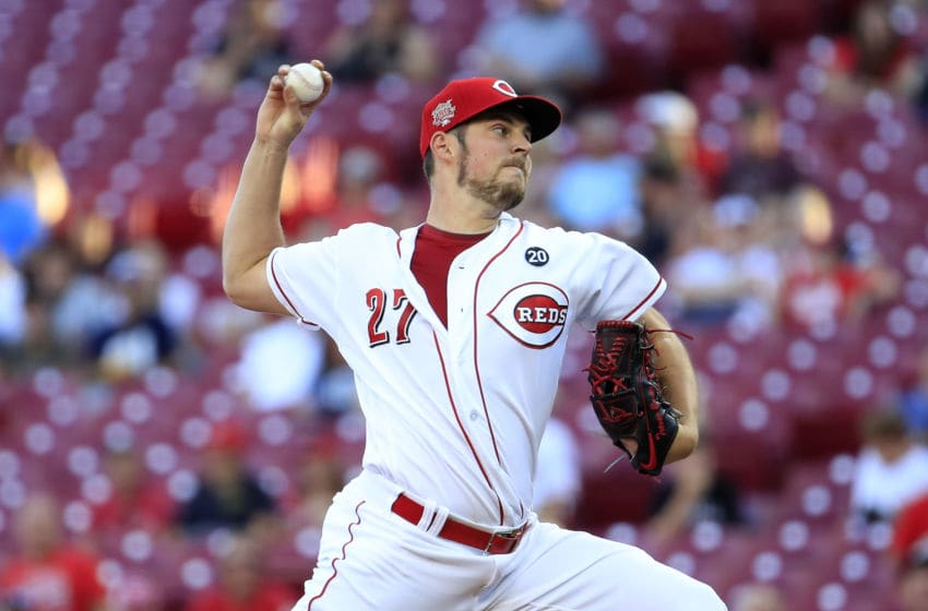 CINCINNATI, OHIO - SEPTEMBER 04: Trevor Bauer #27 of the Cincinnati Reds throws a pitch against the Philadelphia Phillies at Great American Ball Park on September 04, 2019 in Cincinnati, Ohio. (Photo by Andy Lyons/Getty Images)