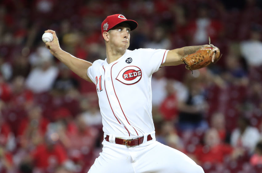CINCINNATI, OHIO - SEPTEMBER 04: Michael Lorenzen #21 of the Cincinnati Reds throws a pitch. (Photo by Andy Lyons/Getty Images)