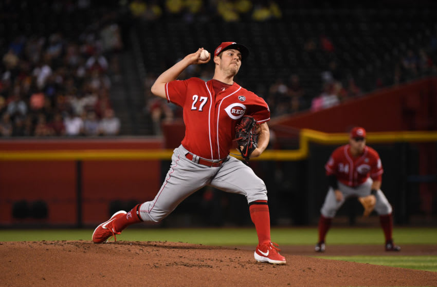 PHOENIX, ARIZONA - SEPTEMBER 15: Trevor Bauer #27 of the Cincinnati Reds (Photo by Norm Hall/Getty Images)