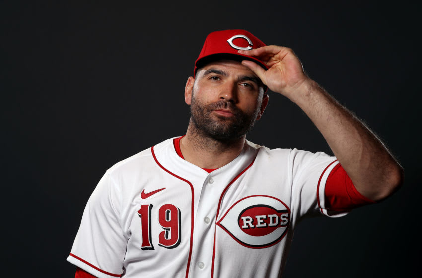GOODYEAR, ARIZONA - FEBRUARY 19: Joey Votto #19 poses during Cincinnati Reds Photo Day on February 19, 2020 in Goodyear, Arizona. (Photo by Jamie Squire/Getty Images)
