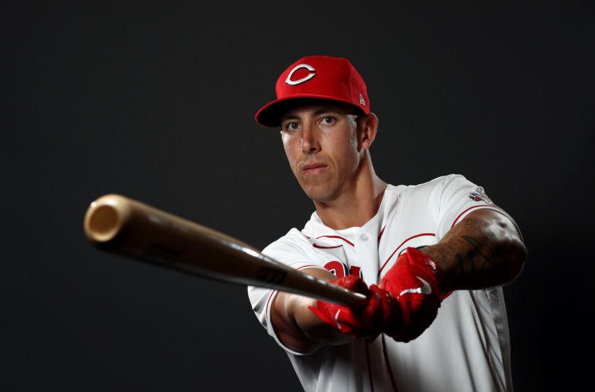 GOODYEAR, ARIZONA - FEBRUARY 19: Michael Lorenzen #21 poses during Cincinnati Reds (Photo by Jamie Squire/Getty Images)