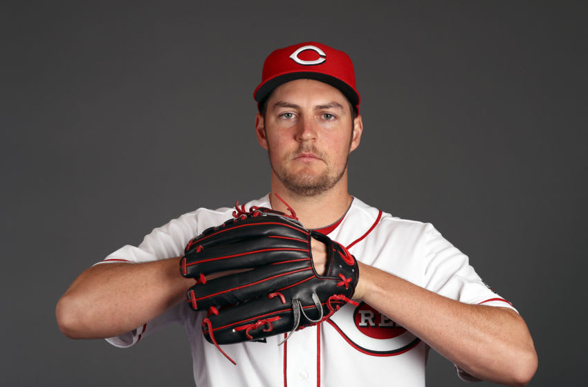 GOODYEAR, ARIZONA - FEBRUARY 19: Trevor Bauer #27 poses during Cincinnati Reds (Photo by Jamie Squire/Getty Images)