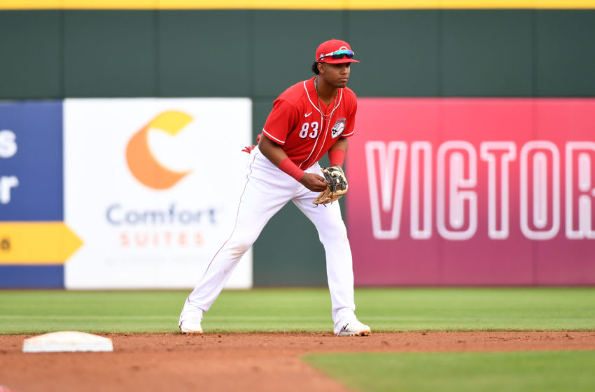 GOODYEAR, ARIZONA - FEBRUARY 28: Jose Garcia #83 of the Cincinnati Reds (Photo by Norm Hall/Getty Images)