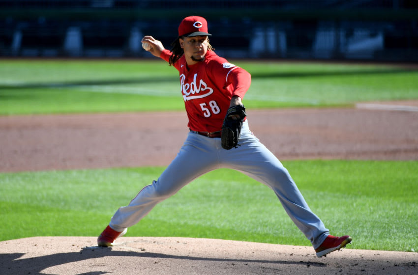 PITTSBURGH, PA - SEPTEMBER 04: Luis Castillo #58 of the Cincinnati Reds delivers a pitch. (Photo by Justin Berl/Getty Images)