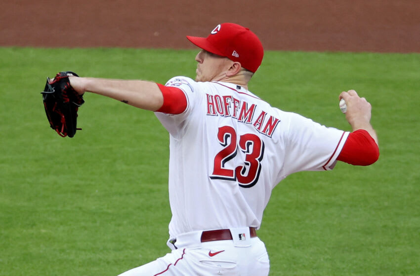 CINCINNATI, OHIO - MAY 21: Jeff Hoffman #23 of the Cincinnati Reds pitches in the first inning. (Photo by Dylan Buell/Getty Images)