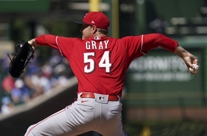 CHICAGO, ILLINOIS - SEPTEMBER 06: Sonny Gray #54 of the Cincinnati Reds throws a pitch. (Photo by Nuccio DiNuzzo/Getty Images)