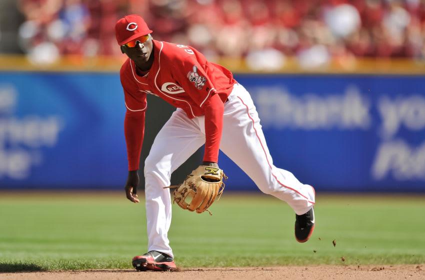 CINCINNATI, OH - SEPTEMBER 9: Didi Gregorius #25 of the Cincinnati Reds plays shortstop. (Photo by Jamie Sabau/Getty Images)