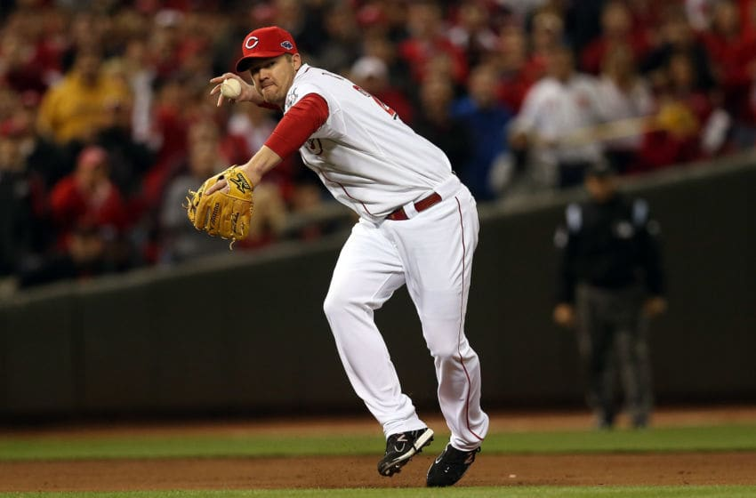 Scott Rolen, Cincinnati Reds. (Photo by Jonathan Daniel/Getty Images)