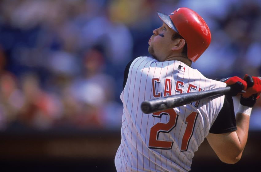 6 May 2001: Sean Casey #21 of the Cincinnati Reds Mandatory Credit: Mark Lyons /Allsport