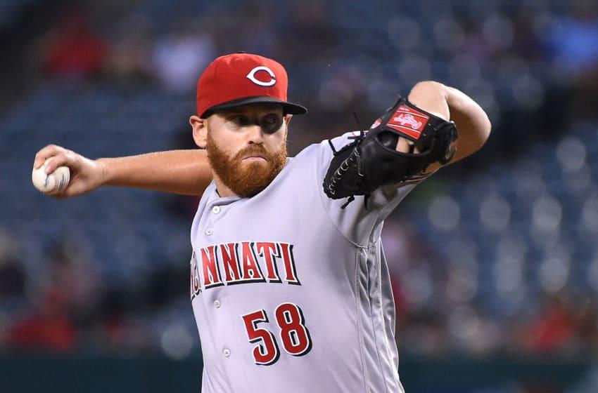 ANAHEIM, CA - AUGUST 29: Dan Straily #58 of the Cincinnati Reds (Photo by Jayne Kamin-Oncea/Getty Images)