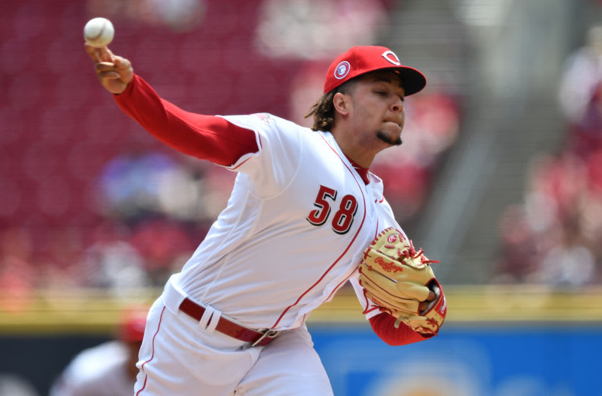 CINCINNATI, OH - MAY 27: Luis Castillo #58 of the Cincinnati Reds pitches in the first inning against the Pittsburgh Pirates at Great American Ball Park on May 27, 2019 in Cincinnati, Ohio. (Photo by Jamie Sabau/Getty Images)