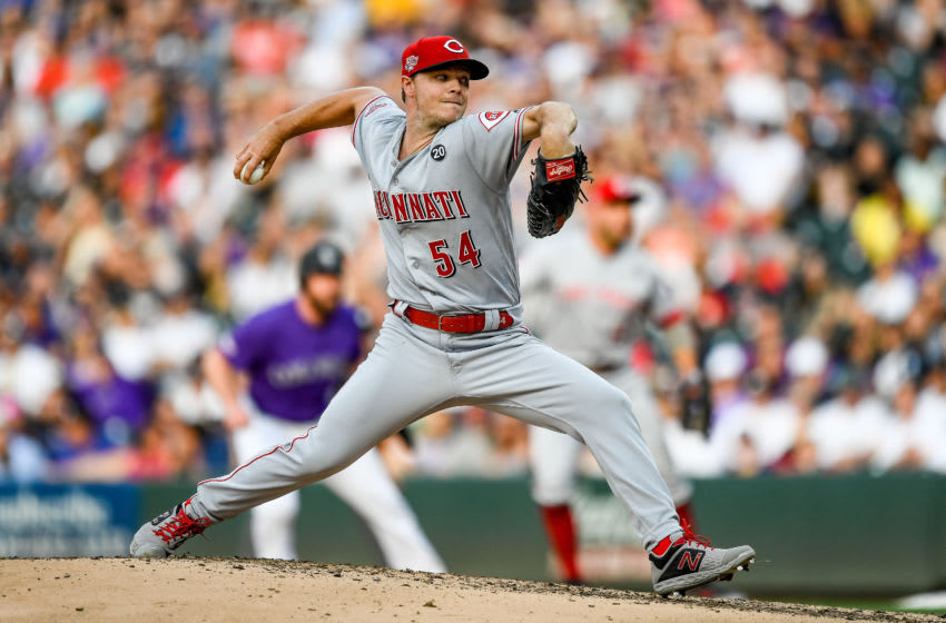 DENVER, CO - JULY 12: Sonny Gray #54 of the Cincinnati Reds pitches against the Colorado Rockies during a game at Coors Field on July 12, 2019 in Denver, Colorado. (Photo by Dustin Bradford/Getty Images)