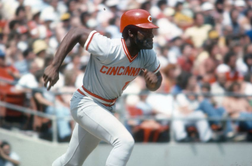 PITTSBURGH, PA - CIRCA 1975: George Foster #15 of the Cincinnati Reds (Photo by Focus on Sport/Getty Images)