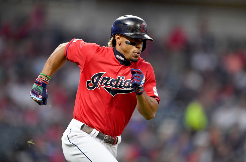 CLEVELAND, OHIO - SEPTEMBER 19: Francisco Lindor #12 of the Cleveland Indians(Photo by Jason Miller/Getty Images)
