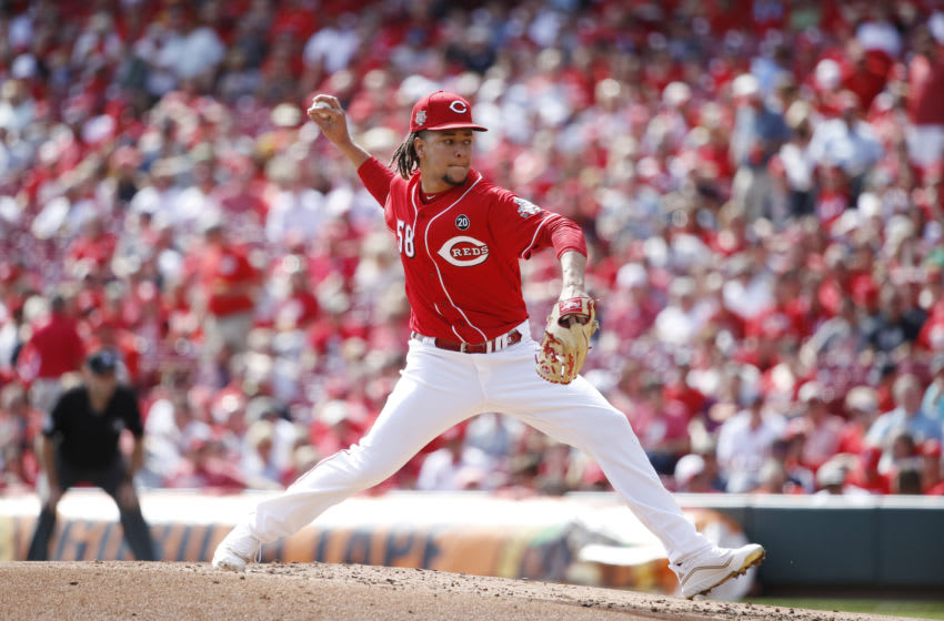 CINCINNATI, OH - SEPTEMBER 26: Luis Castillo #58 of the Cincinnati Reds (Photo by Joe Robbins/Getty Images)