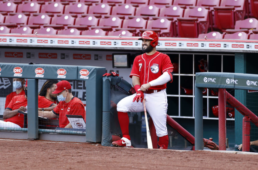 CINCINNATI, OH - JULY 22: Eugenio Suarez #7 of the Cincinnati Reds (Photo by Joe Robbins/Getty Images)