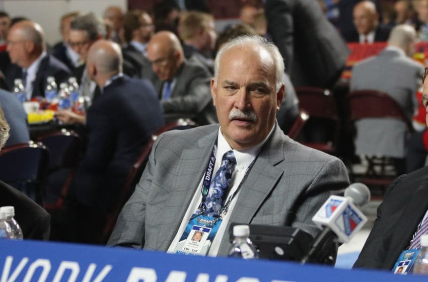 VANCOUVER, BRITISH COLUMBIA - JUNE 22: John Davidson of the New York Rangers attends the 2019 NHL Draft at the Rogers Arena on June 22, 2019 in Vancouver, Canada. (Photo by Bruce Bennett/Getty Images)