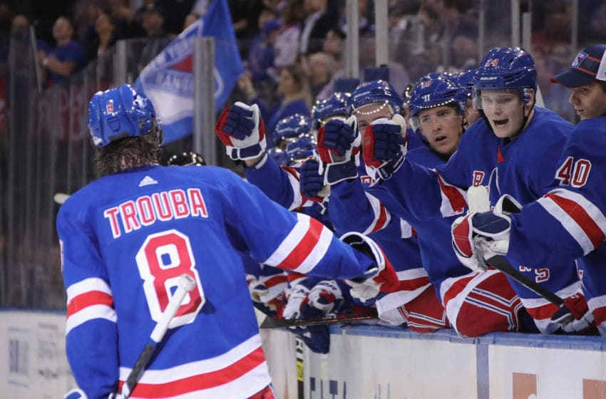 Jacob Trouba #8 of the New York Rangers (Photo by Bruce Bennett/Getty Images)
