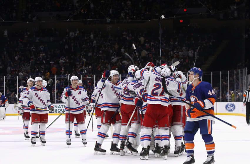 New York Rangers celebrate (Photo by Bruce Bennett/Getty Images)