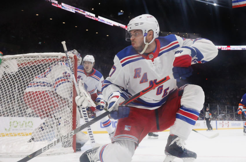 Tony DeAngelo #77 of the New York Rangers(Photo by Bruce Bennett/Getty Images)