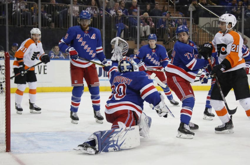 Henrik Lundqvist #30 of the New York Rangers (Photo by Bruce Bennett/Getty Images)
