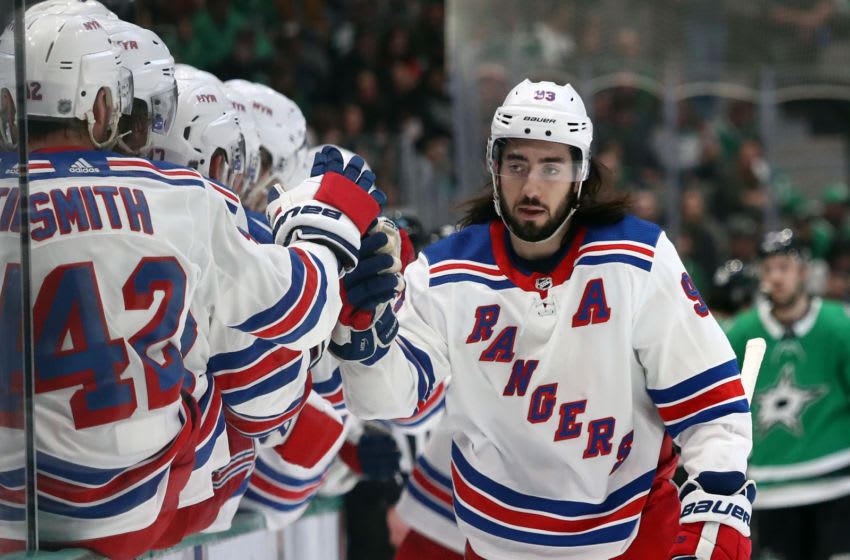 Mika Zibanejad of the New York Rangers (Photo by Ronald Martinez/Getty Images)